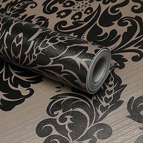 simplelife4u-black-damask-self-adhesive-shelf-drawer-liner-pvc-contact-paper-45x300cm