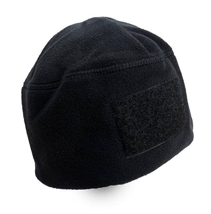 2113e00bd71 Image Unavailable. Image not available for. Color  Rothco Men s Polar  Fleece Tactical Watch Cap Beanie With Velcro Patch Black