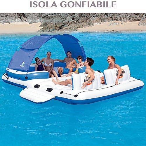 Colchón hinchable isla para piscina playa resistente y Spaziosa ...