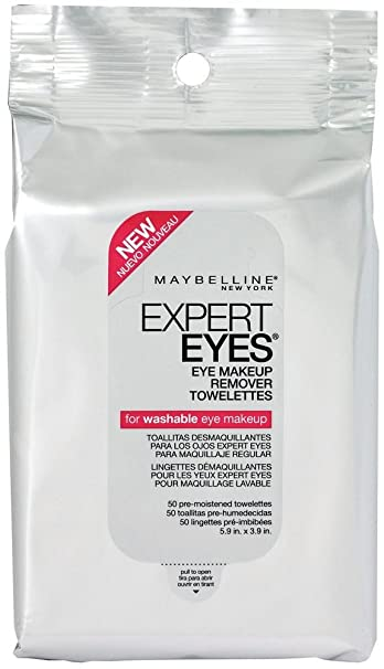 Amazon.com : Maybelline Expert Eyes Eye Makeup Remover Towelettes 50ct (2 Pack) : Beauty