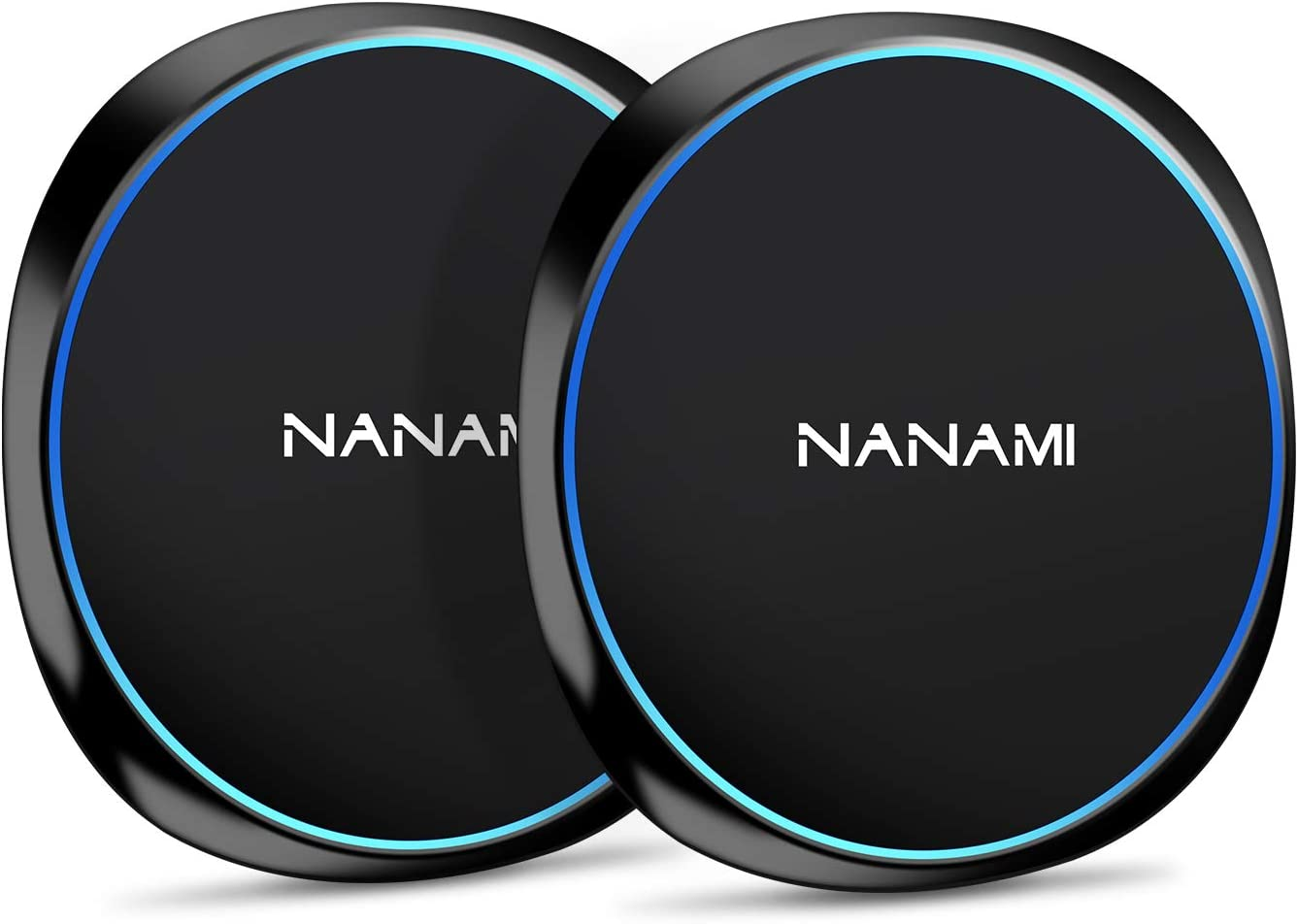 NANAMI Fast Wireless Charger,10W Qi-Certified Wireless Charging Pad [2 Pack] Compatible Samsung S20/S10/S9/S8/S7/Note 10+/9/8, 7.5W for iPhone SE/11/11 Pro/11 Pro Max/XS Max/XS/XR/X/8 Plus/New Airpods