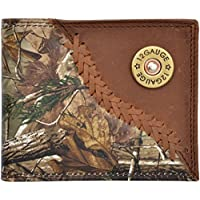 Custom Skull and Crossbones Long Ostrich print wallet with hair and hide inlay