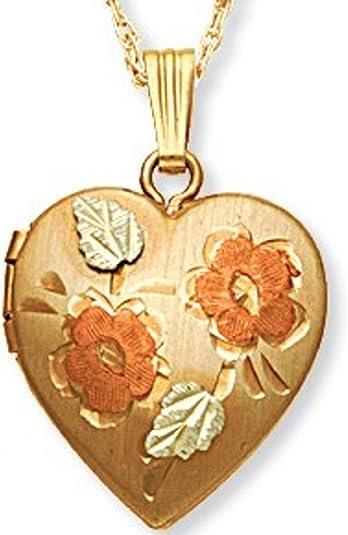 LA BLINGZ 10K Rose Gold Nugget Initial Letter R Necklace