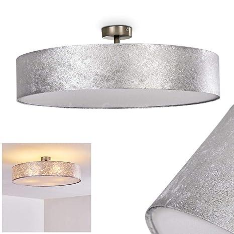 Lámpara de techo Foggia color plateado, 60 cm, 3 x 40W max