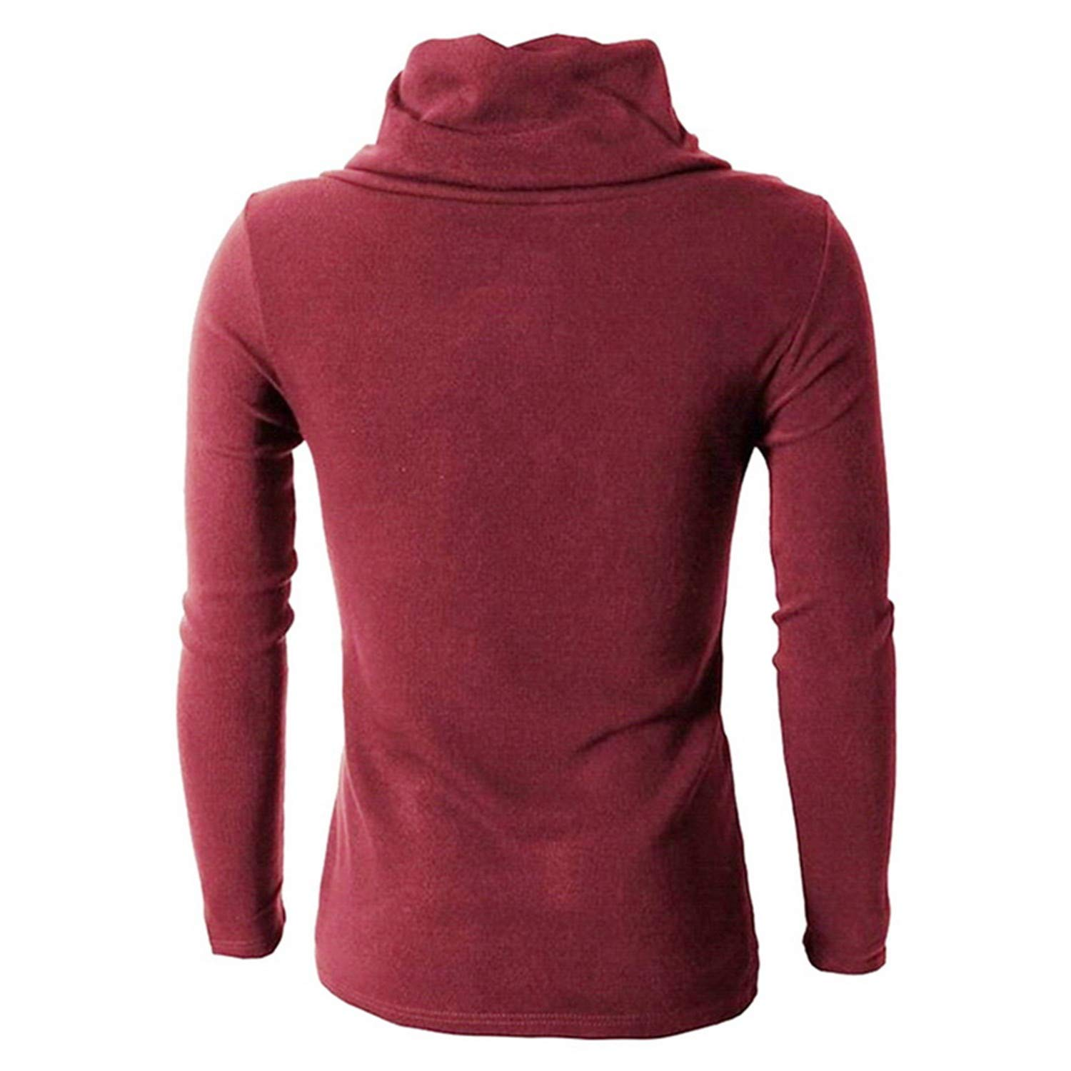 Cyose Fashion High Collar Sweaters Men Casual Slim Mixed Colors Sweaters for Mens