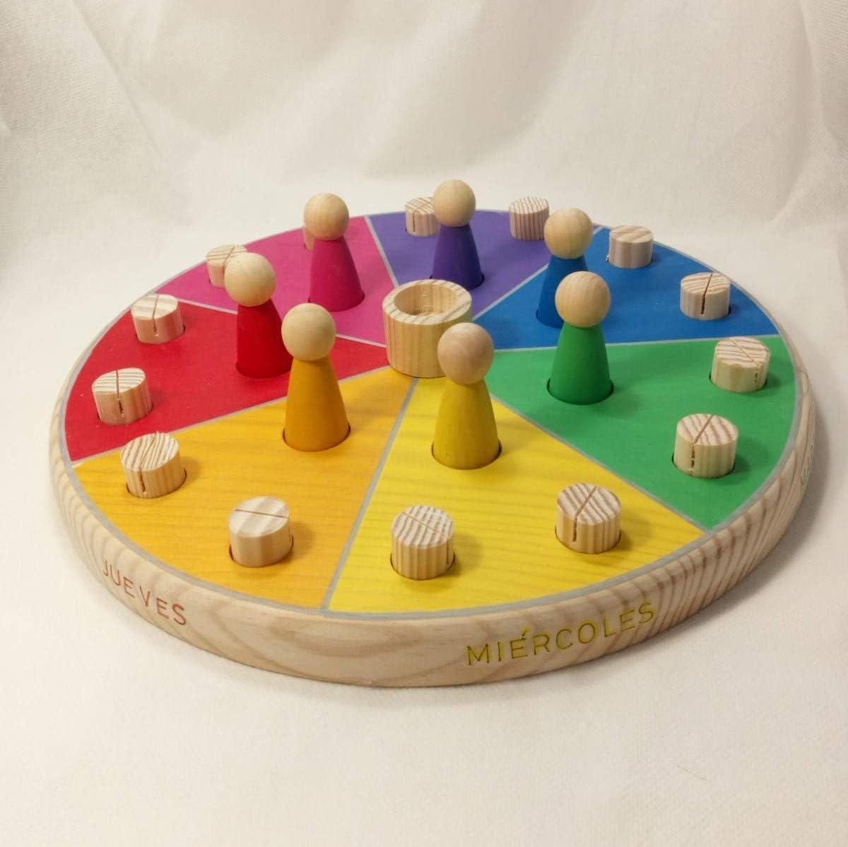 dias en Castellano ludimat Calendario semanal Eventos Grande Montessori Waldorf