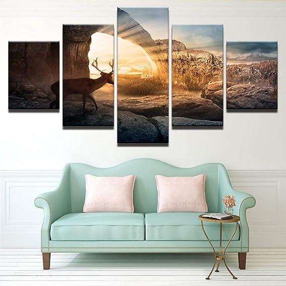 5 dipinti consecutivi Complementi Arredo Casa Stampa Su ...