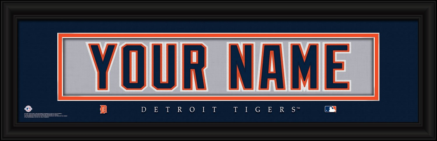 sale retailer 15da3 130ec Detroit Tigers Personalized Nameplate MLB framed and customized 24