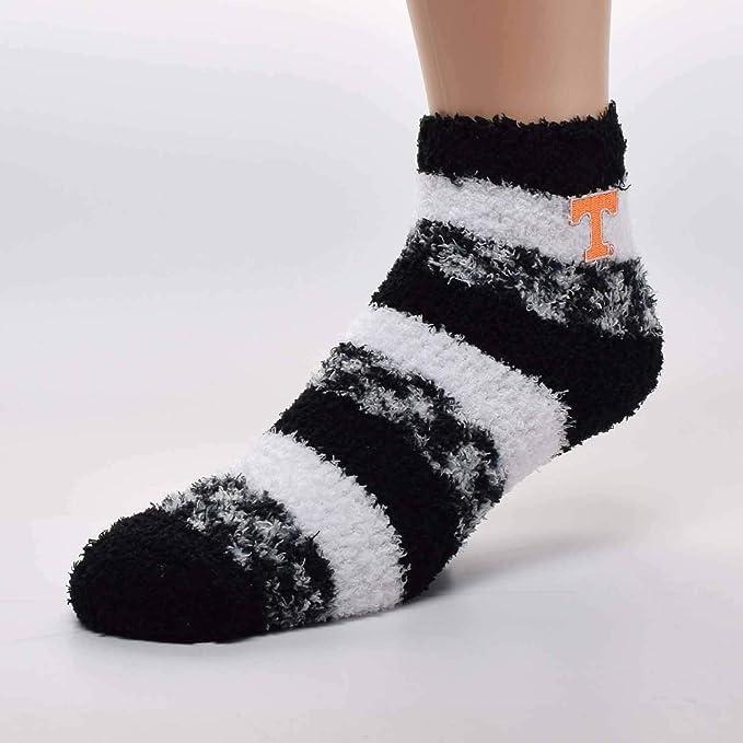 For Bare Feet LSU Tigers Double Deuce Gray Knit Socks