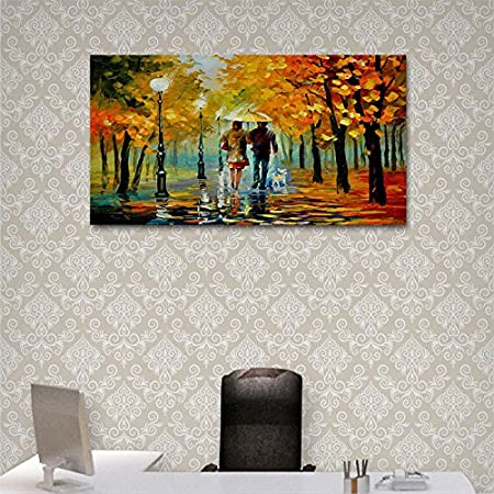 WDHome Full Square Drill Night Wailing 16 x 12 Inches Cross Stitch Crafts Wall Stickers for Home Wall Decor 5D DIY Diamond Painting Kits for Adults