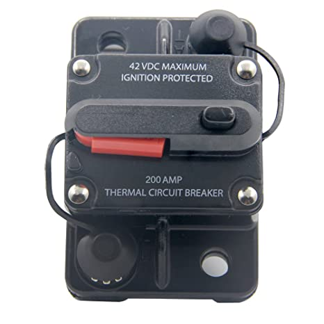 amazon com rkurck 12v 42vdc 200a manual reset circuit breaker fuse rh amazon com