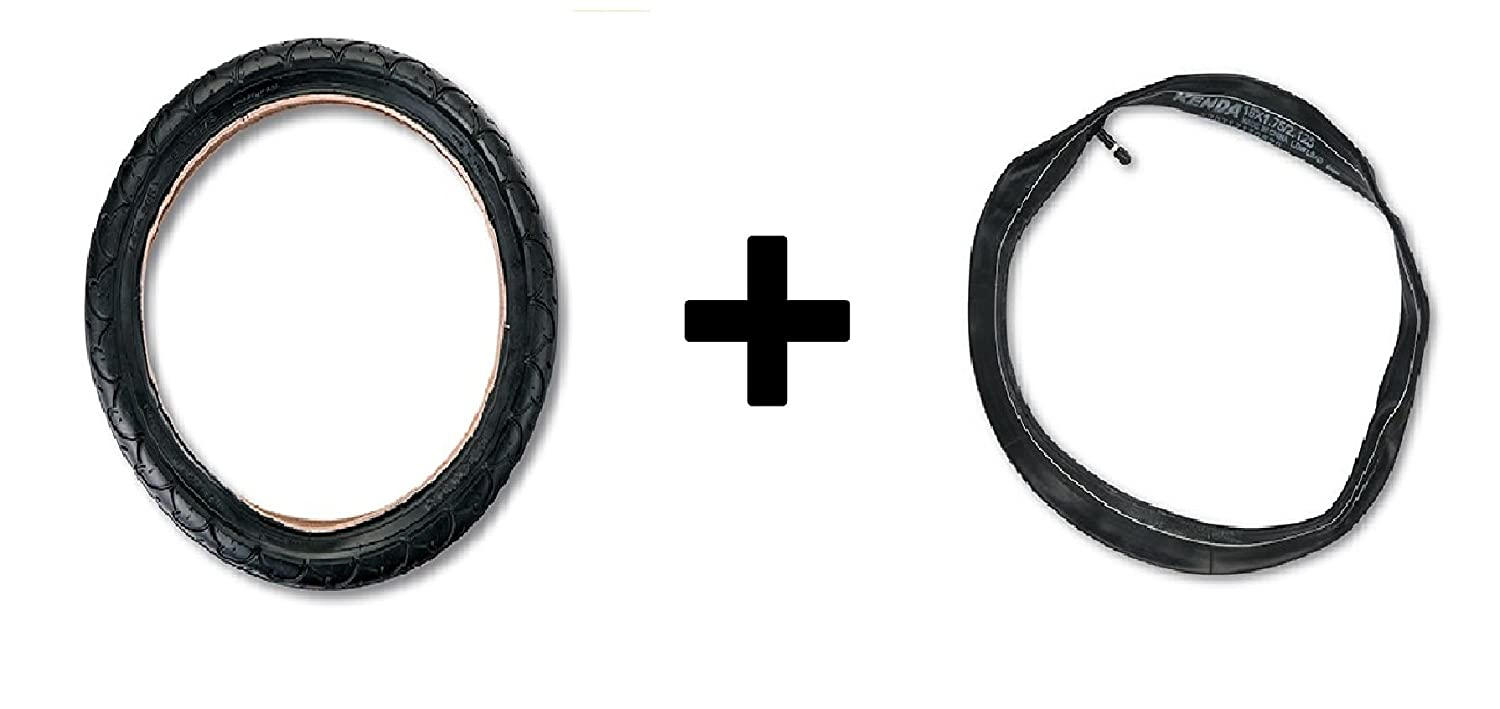 16 Rear Tire PLUS Inner Tube for BOB Revolution Flex/Pro/SE Single and Duallie Strollers TI0502 TU0500
