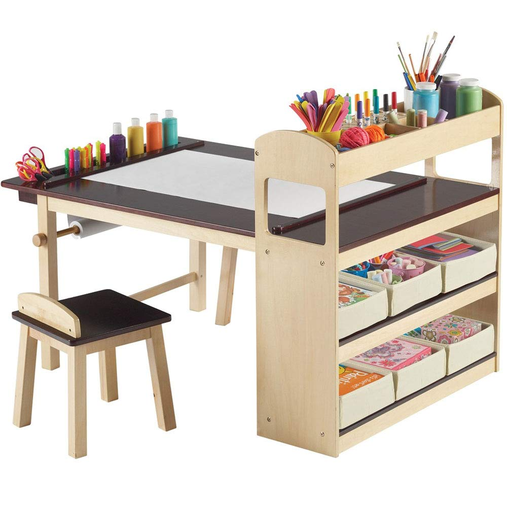 SKB family Kids Activity Table with Storage, 32'' x 31'' x 100 lbs