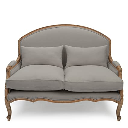 Wondrous Within Home Estelle French Small Sofa Dove Grey Wood Ibusinesslaw Wood Chair Design Ideas Ibusinesslaworg