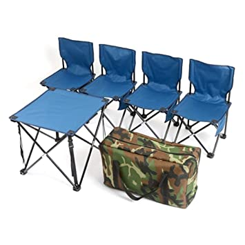 Alf Mesa y Silla de Camping Mesa Plegable for 4 sillas Mesa for ...