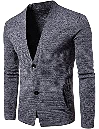 Fashion Mens Cardigan Sweater Autumn Winter Sweater V-Neck Open Loose Collar V-Neck Knitwear For Men