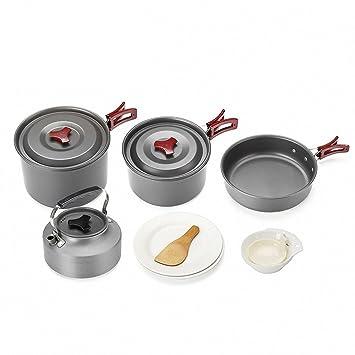 Kit Portátil De Utensilios De Cocina para Acampar Plegable Cookset ...