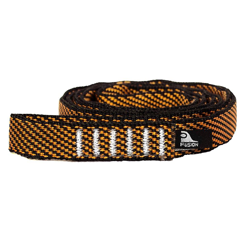 Fusion Climb Quickdraw Runner 5000 lb Test Stitched Loop 20cm x 1.6cm Nylon Webbing, Light Brown/Orange