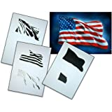 UMR-Design AS-077 USA Flag Airbrushstencil Step by Step Size M