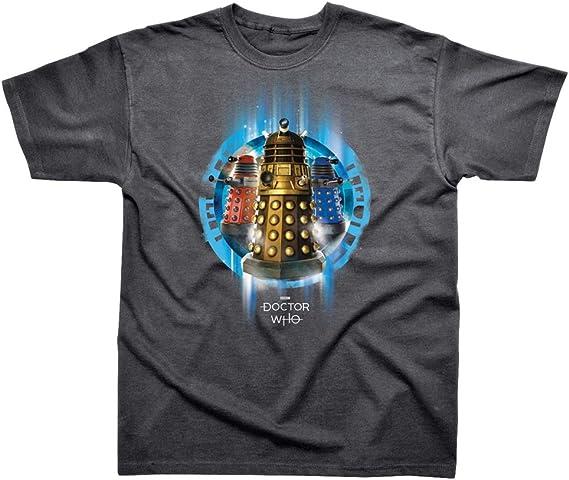 Doctor Who T Shirt Or Dalek Nouveau Officiel Homme Dark