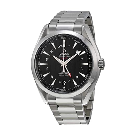 Omega Seamaster Aqua Terra GMT Automático Negro Dial Acero inoxidable reloj para hombre 231.10.43.22.01.001: Omega: Amazon.es: Relojes