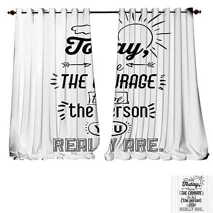 Amazon Com Room Darkening Wide Curtains Inspirational Positive