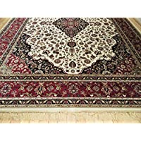New Silk Ivory Area Rug 5x8 Rug White Classic Rug Persian Living Room Area Rug High End Luxury 5x7 Silk Rugs