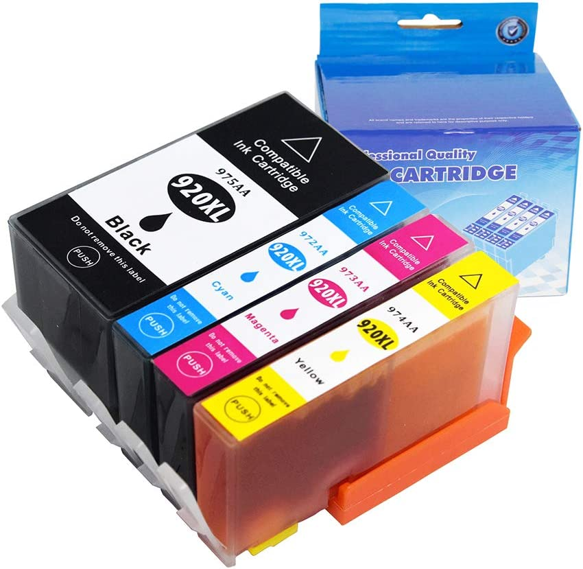 Folkstoner Compatible High Yield Inkjet Cartridge Replacement 920XL 920 for HP Officejet 6500 6500A Plus 6000 7000 7500 7500a Plus Printer,4 Pack