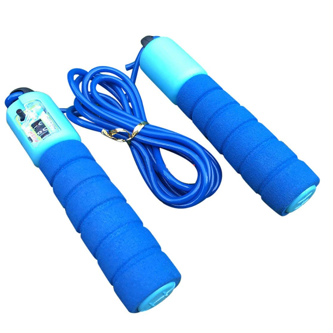 LouiseEvel215 Jump Rope Skipping Rope with Foam Handled Adjustable Jump Rope with Counter Outside Workout Home Workouts Cross Fitness Rope Skipping Weight-Loss Boxing Gym Used
