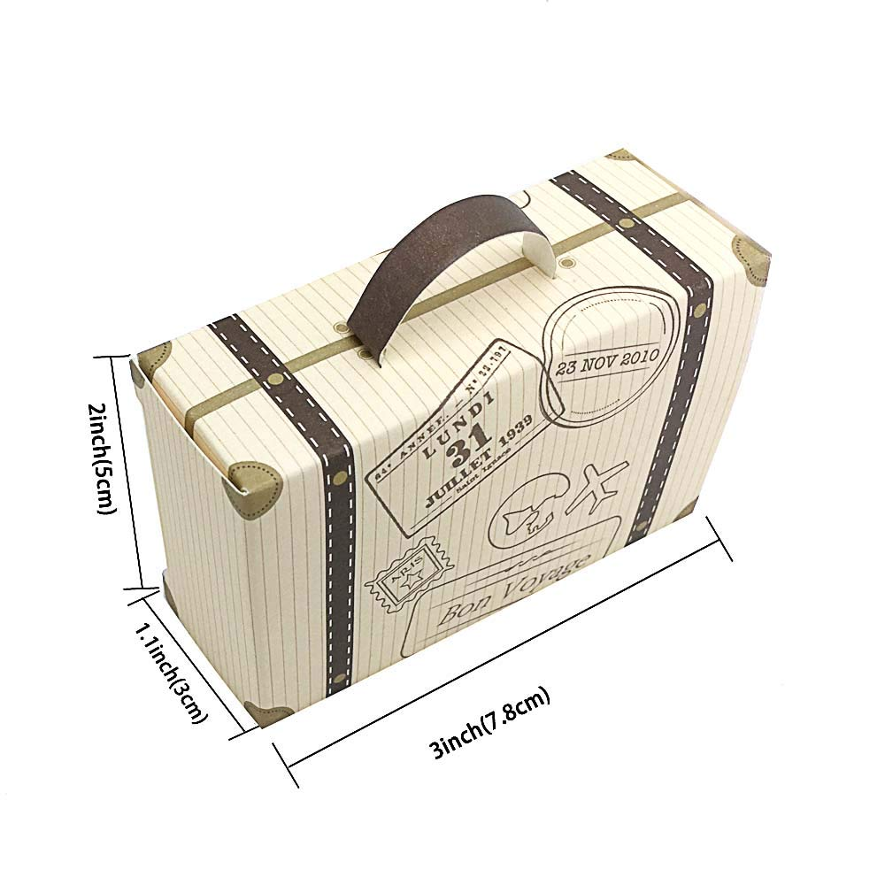 SaveStore 50pcs Creative Mini Suitcase Candy Box Candy Packaging Carton Wedding Gift Box Event Party Supplies Wedding favors with Card by SaveStore (Image #7)