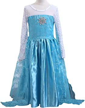 MissFox Disfraz Elsa Frozen Disfraces De Princesas Niña 150CM Como ...