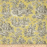Waverly Rustic Life Toile Lemondrop Fabric By The Yard