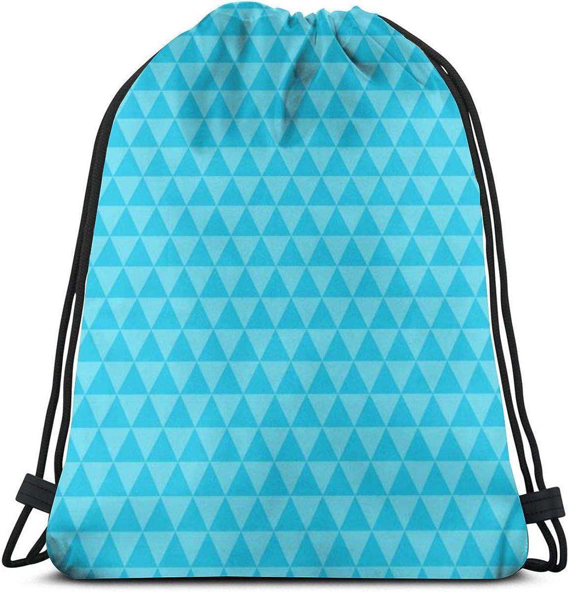 Drawstring Backpack Triangle Gym Bag