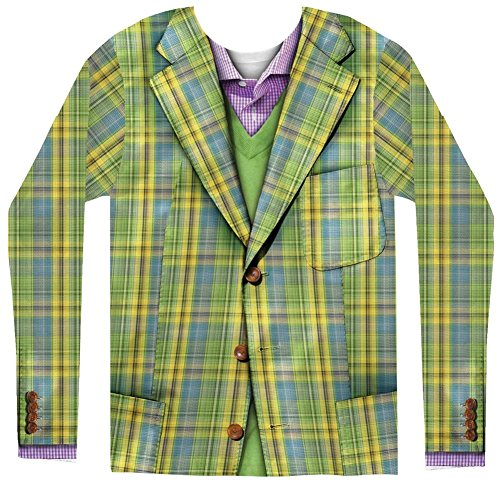 Creative Apparel Herren Faux Plaid Sports Coat Long Sleeve Tee (men Small)