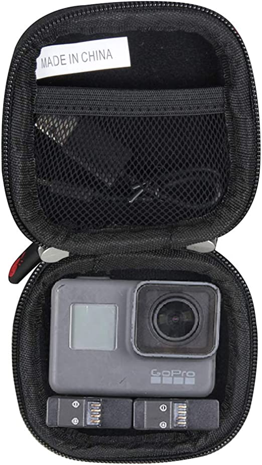 Amazon Com Hermitshell Hard Travel Case For Gopro Hero 7 6 5 4 3 Dji Osmo Action Cam Digital Camera