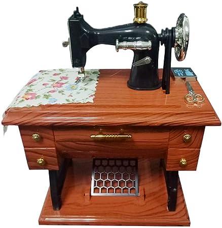 Surenhap Caja de música Vintage Mini máquinas de Coser Caja de música Decoración de Escritorio Decoración para el hogar niños: Amazon.es: Hogar