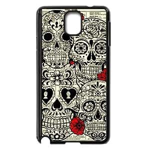 Samsung Galaxy Note 3 Cell Phone Case Black sugar skull hhpu