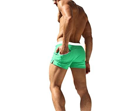 9a74d760a14 Swimwear Men Swimsuit Sexy Swimming Trunks Sunga Hot Mens Swim Briefs Beach  Shorts Mayo sungas de Praia homens | Amazon.com