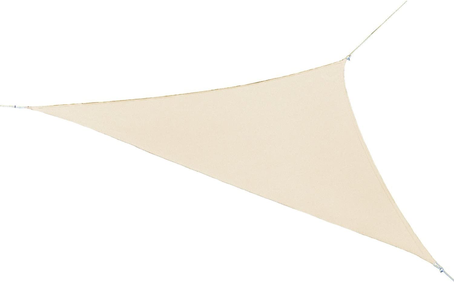 Coolaroo Ready-to-hang Triangle Shade Sail Canopy, Pebble, 13 Feet Triangle