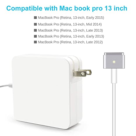 Amazon.com: Mac Book Pro Charger Magsafe2 T-Tip Power ...