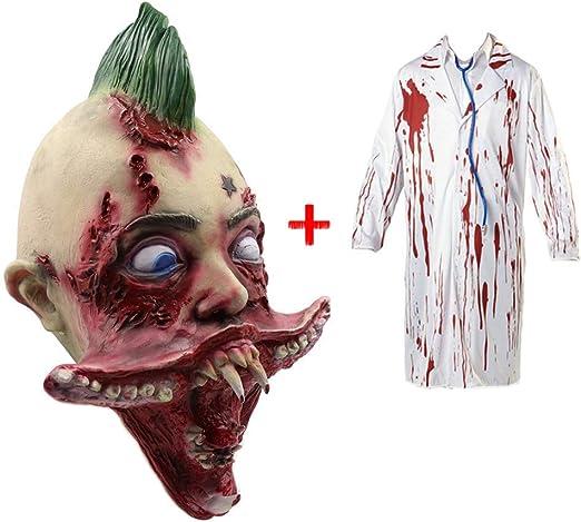 MIANCY-Goods Espeluznante máscara de Halloween del Zombi + Ropa ...