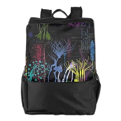 World Abstract Printed Girls Backpack Lightweight Casual Shoulder Bag Boys  School Bag Bookbags Daypacks Black For 144a923edf