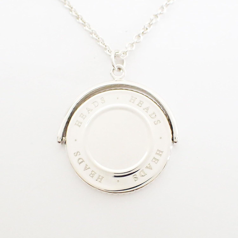 ティファニー 激レア ヴィンテージ ネックレス ペンダント コイン 回転式 シルバー 925 [極美品]中古 B077YBC93T
