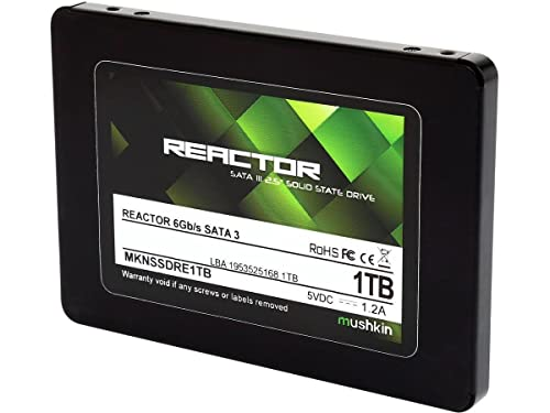 Mushkin REACTOR 500GB Internal Solid State Drive (SSD) 2.5 Inch SATA III 6Gbit/s MLC 7mm MKNSSDRE500GB
