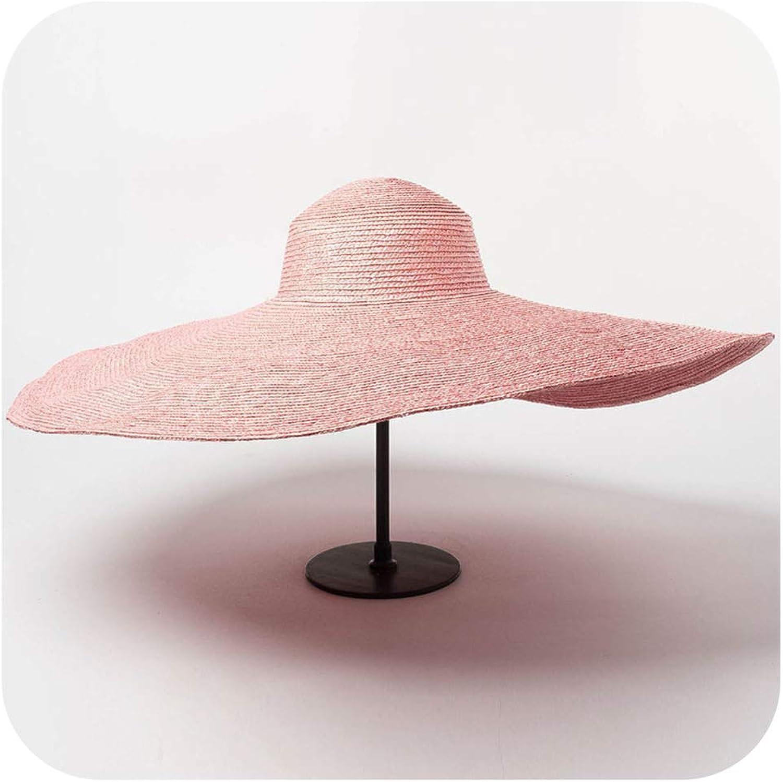 Summer Photographed Model 25Cm Wind Brim Show Catwalk Leisure Beach Lady Cap Women Holiday Sun Hat