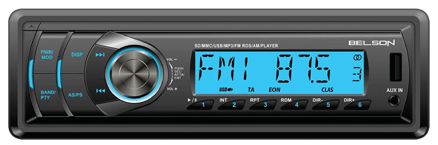 Belson BS-1502 - Autorradio MP3, FM/AM sin mecánica CD con lector USB y SD, negro: Amazon.es: Electrónica