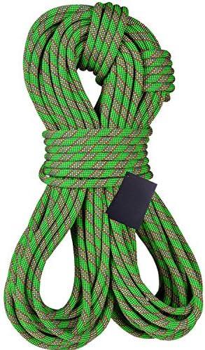 Dometool Cuerda de escalada, cuerda de rapel, accesorios de excursiones al aire libre, 10,5 mm de diámetro, 20 KN de alta resistencia