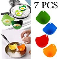 LJTT Silicone Poaching Pods Egg Poacher Cups