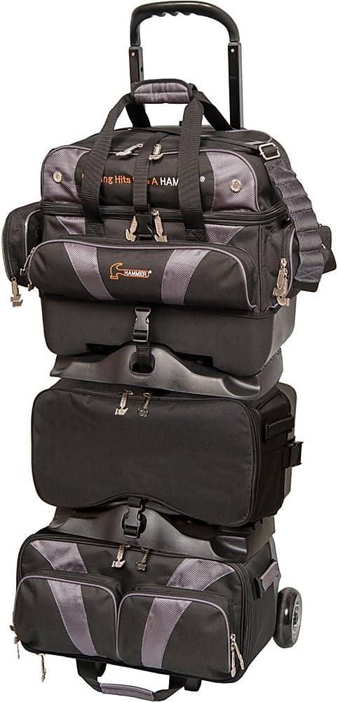 Hammer Premium Black//Carbon 6 Ball Roller Bowling Bag