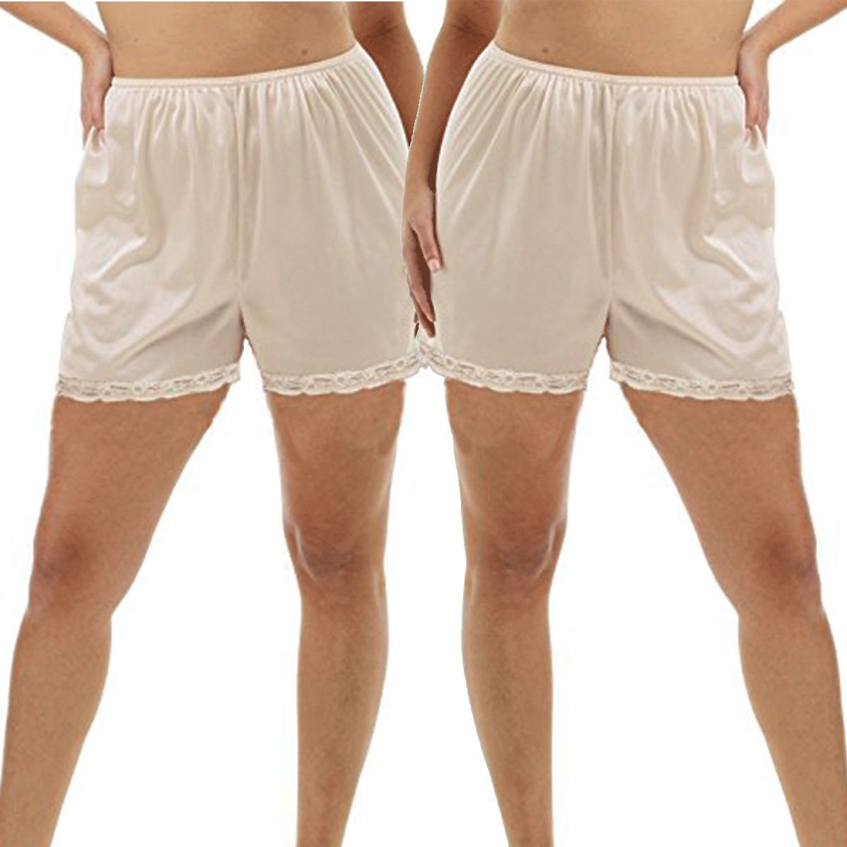 Under Moments Pettipants Cotton Culotte Bloomers Split Shorts 3inch Inseam 2 Pack UM-2639